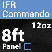 "12oz. Fire Retardant Duvetyne/Commando Cloth - Sewn Drape Panel w/ 4"" Rod Pockets - 8ft in Black"
