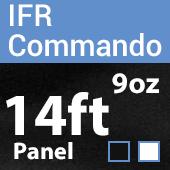 "9oz. Fire Retardant Duvetyne/Commando Cloth - Sewn Drape Panel w/ 4"" Rod Pockets - 14ft"