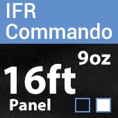 "9oz. Fire Retardant Duvetyne/Commando Cloth - Sewn Drape Panel w/ 4"" Rod Pockets - 16ft"