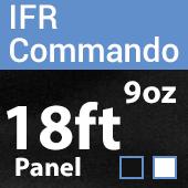 "9oz. Fire Retardant Duvetyne/Commando Cloth - Sewn Drape Panel w/ 4"" Rod Pockets  18ft"