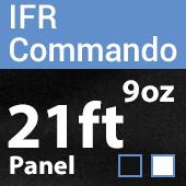 "9oz. Fire Retardant Duvetyne/Commando Cloth - Sewn Drape Panel w/ 4"" Rod Pockets - 21ft"