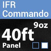 "9oz. Fire Retardant Duvetyne/Commando Cloth - Sewn Drape Panel w/ 4"" Rod Pockets - 40ft"