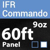 "9oz. Fire Retardant Duvetyne/Commando Cloth - Sewn Drape Panel w/ 4"" Rod Pockets - 60ft"