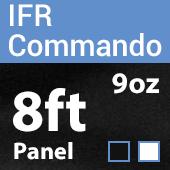 "9oz. Fire Retardant Duvetyne/Commando Cloth - Sewn Drape Panel w/ 4"" Rod Pockets - 8ft"