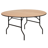 "60"" Round Plywood Table"