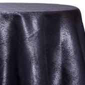 Ebony - Designer Mardi Gras Linen Broad Tablecloth by Eastern Mills w/ Brushed Metallic Finish - Many Size Options