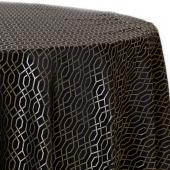 Ebony - Hiren Designer Tablecloths by Eastern Mills - Many Size Options