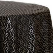 Ebony - Hiren Designer Tablecloths by Eastern Mills - Many Size Options