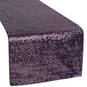 Standard Sequin Table Runner by Eastern Mills - Eggplant/Plum