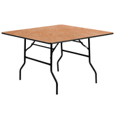"48"" Square Plywood Table"