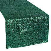 Standard Sequin Table Runner by Eastern Mills - Emerald Green