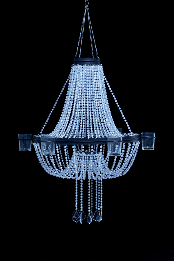 Empire chandelier 6 candle holder crystal iridescent Crystal candle chandelier