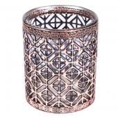 "DecoStar™ Bronze Encased Glass Votive - 4"""