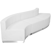 "Titan Series Leather Reception Configuration Style ""K"" 3 pieces ""White"""
