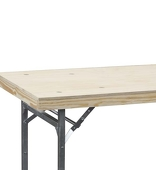 Folding Wood Top Table - 8'x30""