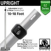 EZ Series - 2-Piece Adjustable Upright w/Slip-Lock (10ft-18ft)