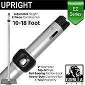EZ Series - 2-Piece Adjustable Upright w/Slip-Lock (10ft-18ft) w/ Versatop™