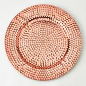 13'' Plastic Charger Plate - C - 24 Pack - Rose Gold