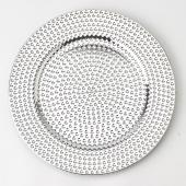 13'' Plastic Charger Plate - C - 24 Pack - Silver