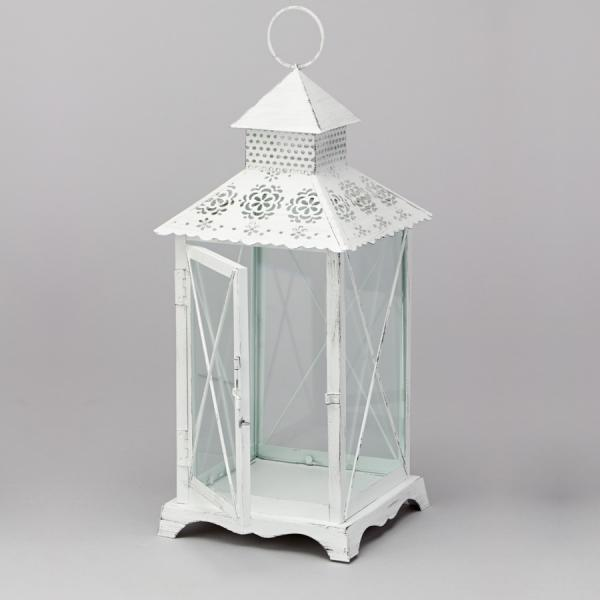 DecoStar: Victorian Decorative Metal Lanterns 14??- White - 6 Pieces