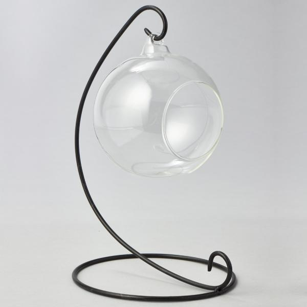 DecoStar: Metal Stand with Glass Globe - 10'' - 12 Pieces