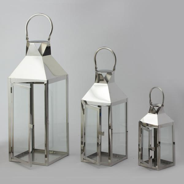 DecoStar: Metal Lanterns Set of 3 - 4 Sets