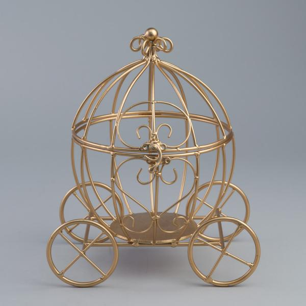 DecoStar: Metal Pumpkin Carriage - Gold - 8 Pieces