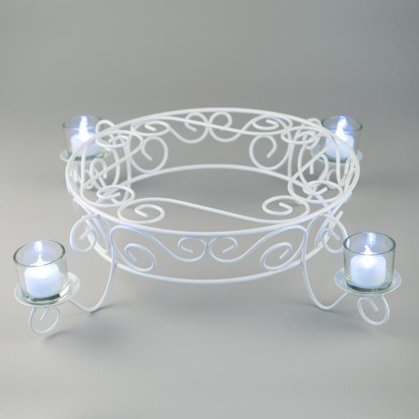 DecoStar: Candlelight Cake Display Stand 21?'' - White - 6 Pieces