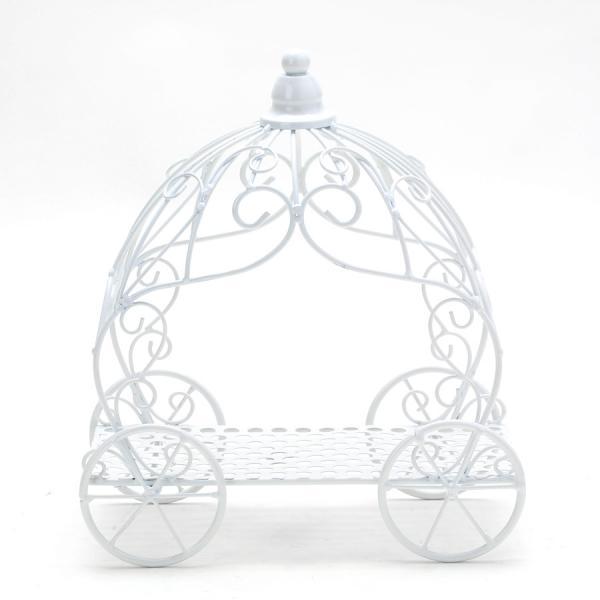 DecoStar: Metal Pumpkin Carriage - White - 8 Pieces