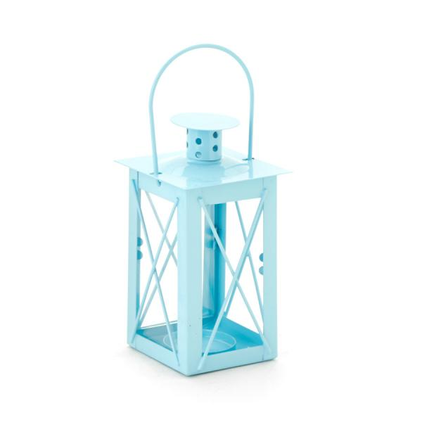 DecoStar: Metal Candle Cage 3 x 4?'' - Blue - 48 Pieces