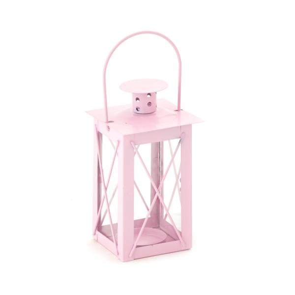 DecoStar: Metal Candle Cage 3 x 4?'' - Pink - 48 Pieces