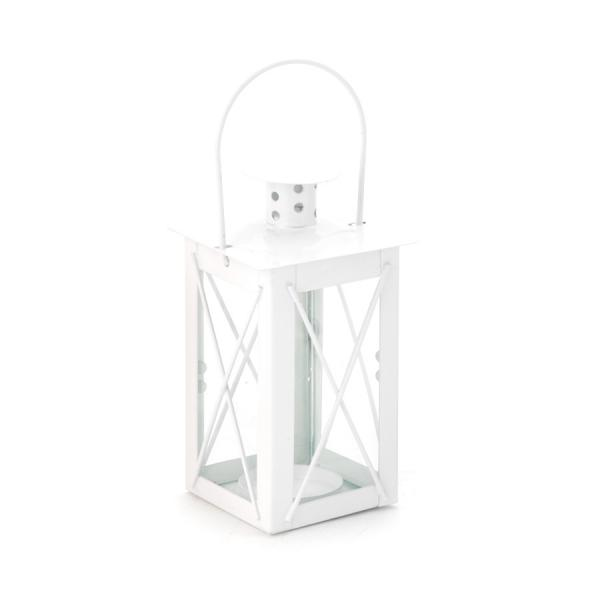 DecoStar: Metal Candle Cage 3 x 4?'' - White - 48 Pieces