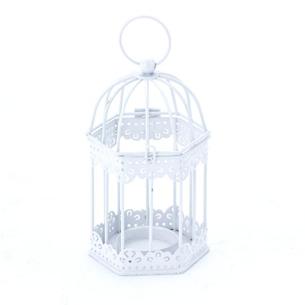 DecoStar: Metal Candle Cage 3? x 5?'' - White - 48 Pieces