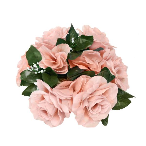 DecoStar:Large Flower Candle Rings 9'' - 48 Pieces - Blush