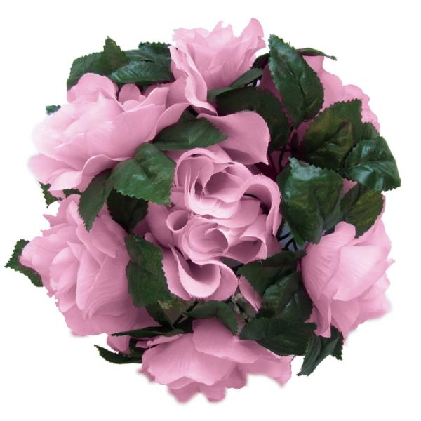 DecoStar:Large Flower Candle Rings 9'' - 48 Pieces - Pink
