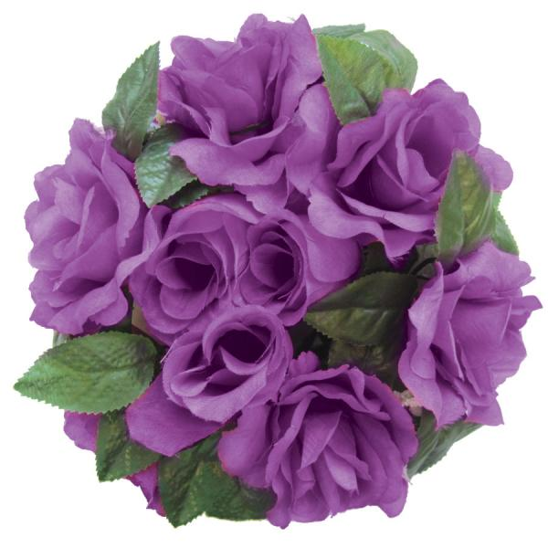 DecoStar:Large Flower Candle Rings 9'' - 48 Pieces - Purple