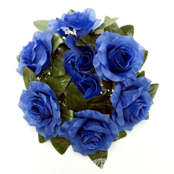 DecoStar:Large Flower Candle Rings 9'' - 48 Pieces - Royal Blue