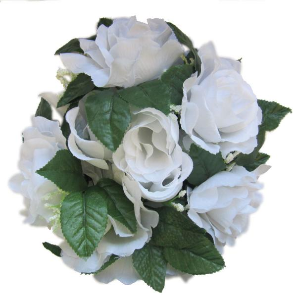 DecoStar:Large Flower Candle Rings 9'' - 48 Pieces - White