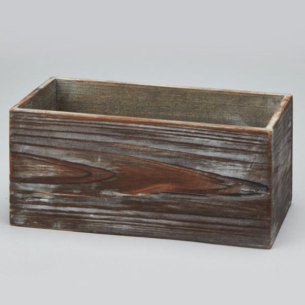 DecoStar: Wood Box - Brown - 10'' - 12 Pieces
