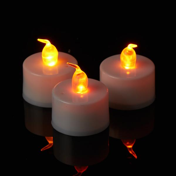 DecoStar: Warm White LED Tea Light Candle 6 Boxes of 12 - 72 Candles!