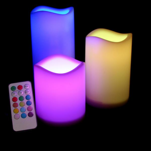 DecoStar: LED Flameless Candle - Multicolor?- 6 Sets of 3