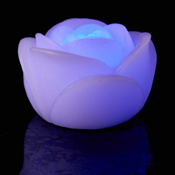 DecoStar: LED Floating Rose Candle 3'' - 12pc - Multicolor
