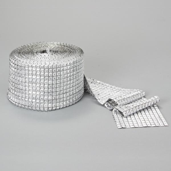 DecoStar: Square Diamond Mesh - 6 Rolls - Silver