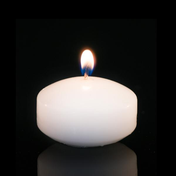 DecoStar: Unscented Floating Candles - 48 Pieces - 2'' - White