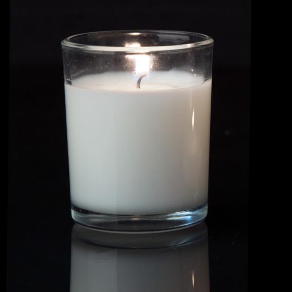 DecoStar: Unscented Poured Glass Votive Candles - 72 Pieces - 2'' - White