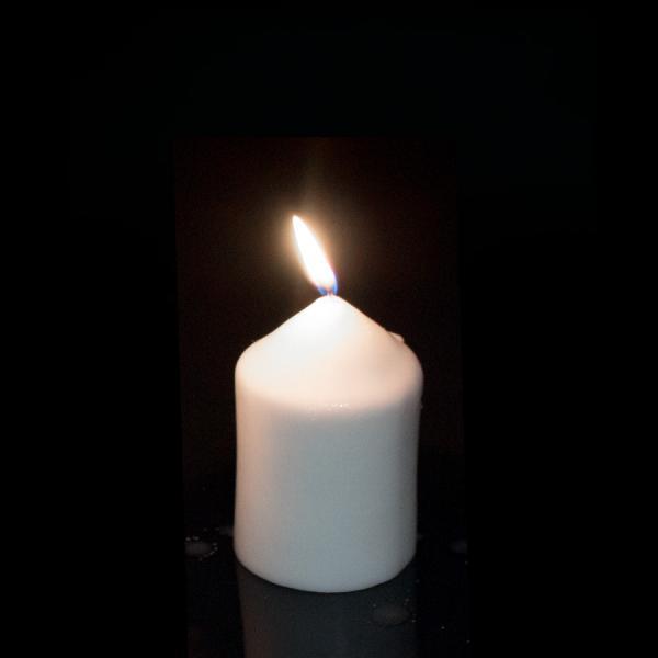 DecoStar: Foam Pillar Candle 3'' - Case of 48 - White