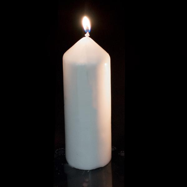 DecoStar: Foam Pillar Candle 6'' - Case of 24 - White