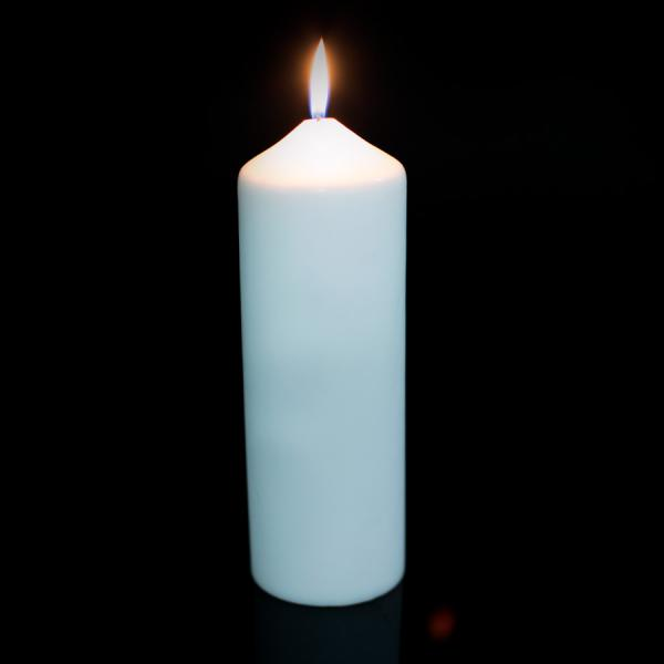 DecoStar: Foam Pillar Candle 9'' - Case of 12 - White