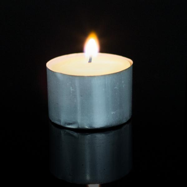 DecoStar: Unscented Jumbo Tealight Candles - 1?'' -?600 Tealights - Ivory
