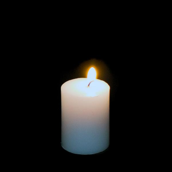 DecoStar: Pillar Candle 3'' - 48 Pieces - White